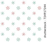 christmas seamless background... | Shutterstock .eps vector #724917244