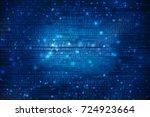 digital abstract technology... | Shutterstock . vector #724923664