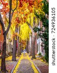Small photo of Philadelphia, Pennsylvania, USA alley in the fall.