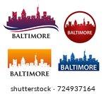 baltimore city skyline logo... | Shutterstock .eps vector #724937164
