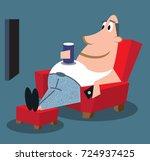couch potato | Shutterstock .eps vector #724937425