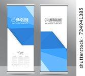 roll up business brochure flyer ... | Shutterstock .eps vector #724941385