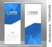 roll up business brochure flyer ... | Shutterstock .eps vector #724941445