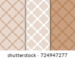 brown and white geometric... | Shutterstock .eps vector #724947277