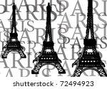 tower in paris  france | Shutterstock . vector #72494923