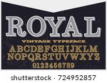 vintage font typeface ... | Shutterstock .eps vector #724952857