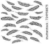 feather pattern | Shutterstock . vector #724958875