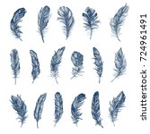 feather pattern | Shutterstock . vector #724961491