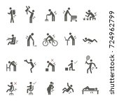 activities cause back pain icon ... | Shutterstock .eps vector #724962799