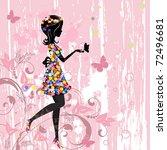 Girl Flowers Pattern