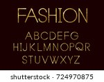 golden fashion font | Shutterstock .eps vector #724970875