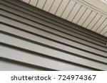 vinyl siding texture leading up ... | Shutterstock . vector #724974367