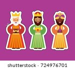 the three kings of orient | Shutterstock .eps vector #724976701
