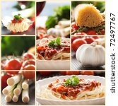 collage of pasta dish.... | Shutterstock . vector #72497767