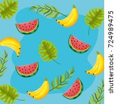 delicious tropical fruit... | Shutterstock .eps vector #724989475
