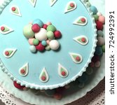 Small photo of Cake with fondant decoration