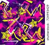 abstract seamless grunge... | Shutterstock .eps vector #724993429