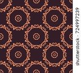 floral fractal  kaleidoscopic... | Shutterstock . vector #724997239