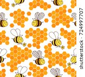 fun seamless pattern with hand... | Shutterstock .eps vector #724997707