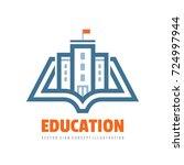 education   vector logo... | Shutterstock .eps vector #724997944