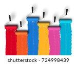 creativity concept  3d render... | Shutterstock . vector #724998439