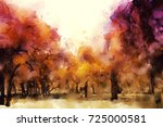 abstract painting of colorful... | Shutterstock . vector #725000581