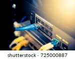 network cables connected in a... | Shutterstock . vector #725000887