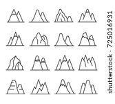 mountains outline set. great... | Shutterstock .eps vector #725016931