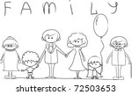 happy family holding hands hand ... | Shutterstock .eps vector #72503653