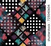 seamless pattern patchwork... | Shutterstock . vector #725040604