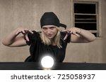 woman gypsy fortune teller... | Shutterstock . vector #725058937