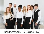 group of confident multi ethnic ... | Shutterstock . vector #725069167