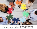 elevated view of business...   Shutterstock . vector #725069329