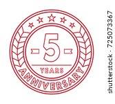 5 years anniversary logo... | Shutterstock .eps vector #725073367