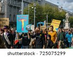 Small photo of Dublin, Ireland- 30 September 2017: March For Choice by the Abortion Rights Campaign (ARC). The demonstrators marched through Dublin city centre calling for the Eighth Amendment to be removed