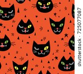 seamless pattern with cute... | Shutterstock .eps vector #725077087