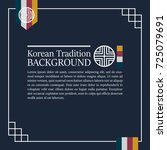 korean traditional blue...   Shutterstock .eps vector #725079691