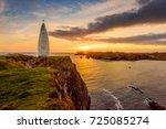 baltimore beacon  west cork ... | Shutterstock . vector #725085274