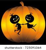 halloween pumpkin | Shutterstock .eps vector #725091064