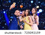 group of friends celebrating... | Shutterstock . vector #725092159