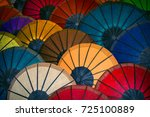 colored paper traditional... | Shutterstock . vector #725100889