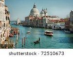 grand canal and basilica santa... | Shutterstock . vector #72510673