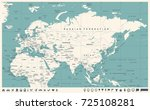 eurasia europa russia china... | Shutterstock .eps vector #725108281