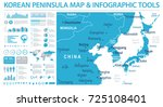 north korea south korea japan... | Shutterstock .eps vector #725108401
