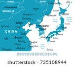 north korea south korea japan... | Shutterstock .eps vector #725108944