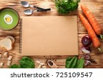 composition with delicious... | Shutterstock . vector #725109547