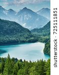 the alpensee lake in the... | Shutterstock . vector #725111851