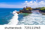 tanah lot   temple in the ocean.... | Shutterstock . vector #725111965