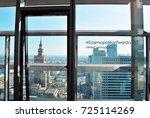warsaw poland. 30 september... | Shutterstock . vector #725114269