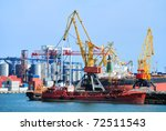 view on trading seaport with... | Shutterstock . vector #72511543